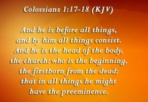 Colossiansn 1.17-18