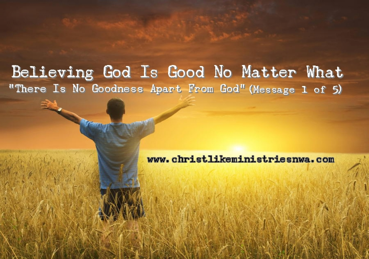 There Is No Goodness Apart From God – Pastor B's Blog