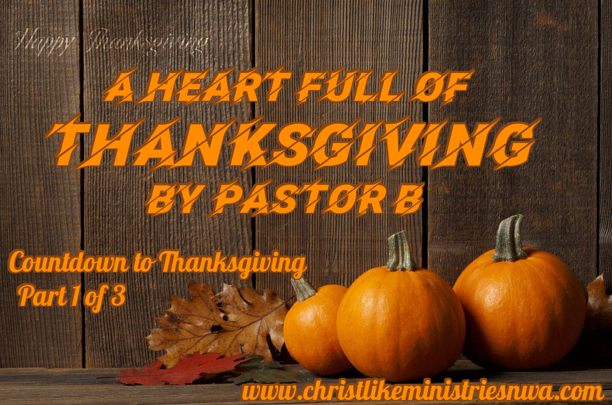 A Heart Full Of Thanksgiving (Part 1)